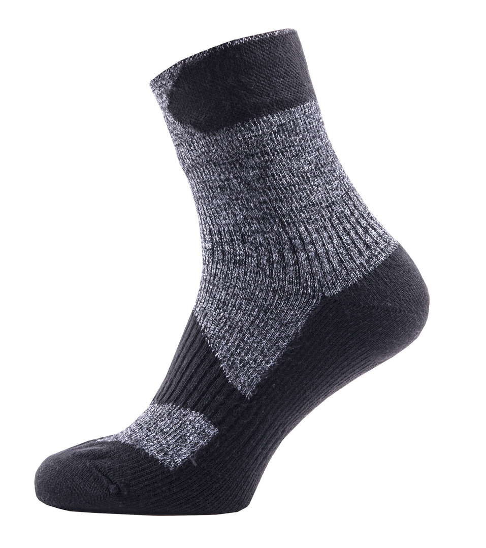 Sealskinz - Calze Walking Thin Ankle Dark Grey/Black Thermal Rating 2