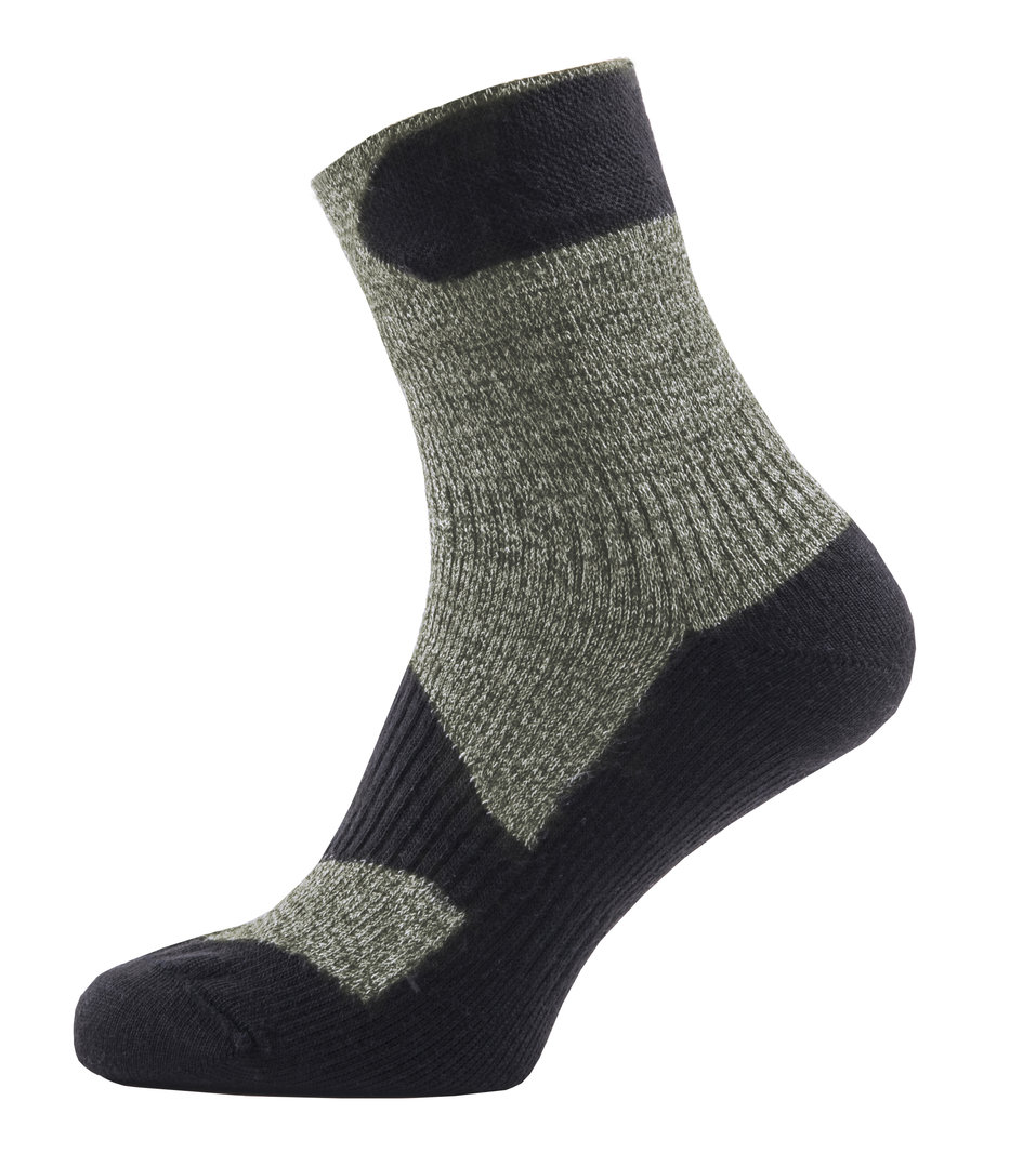Sealskinz - Calze Walking Thin Ankle Olive Marl/Charcoal Thermal Rating 2