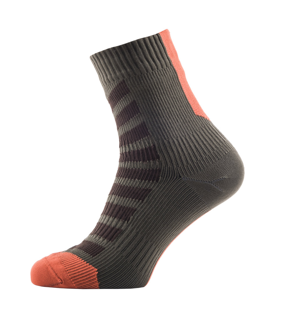 Sealskinz - Calze MTB Ankle with Hydrostop DK Olive/Mud/Orange Thermal Rating