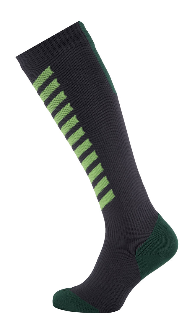 Sealskinz - Calze MTB Mid Knee  Antracite/Lime/Leaf Thermal Rating 3