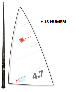 OFFER - CARBON MAST + 4.7 SAIL + 18 NUMBERS