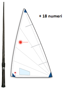 OFFER - CARBON MAST + RADIAL SAIL + 18 NUMBERS