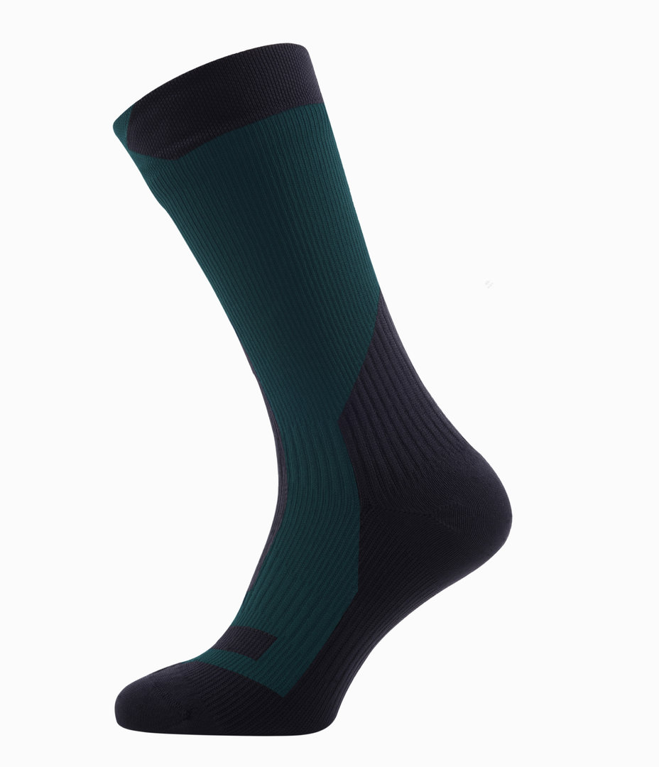Sealskinz - Calze TrekkingThick Mid Pine/Black Thermal Rating 4