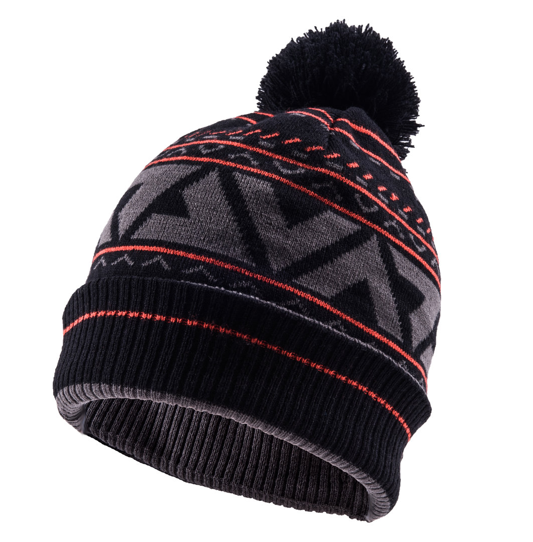Sealskinz - Cappello Waterproof Bobble Cappello Black/Tarmac/Fireworks Thermal Rating