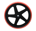 TROLLEY WHEEL - 100% puncture-free wheels - Red