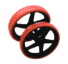 TROLLEY WHEEL COUPLE - 100% puncture-free wheels - Red