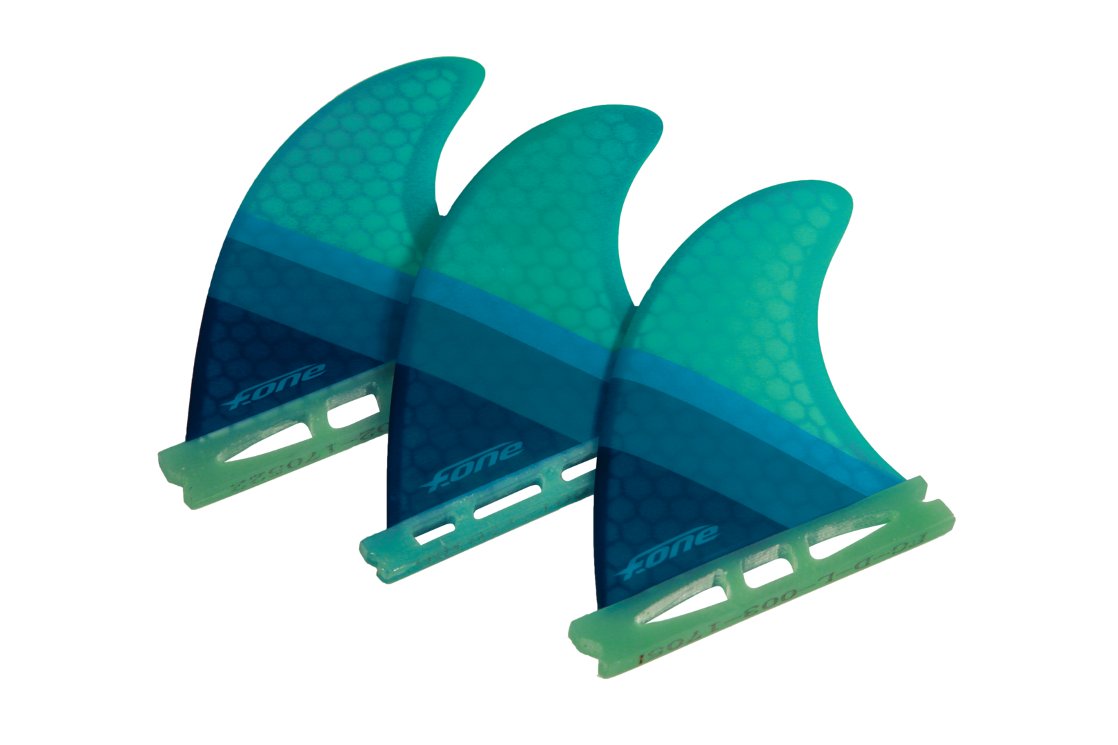 F-One 2019 - Flow XS Thurster Surf Fins Set da 3 Turchesi