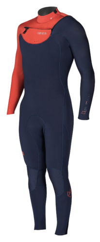MANERA 2018 -  Meteor Wetsuit X10D 3.2 Sailor Blue/Rust Red