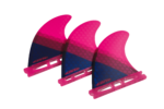 F-One 2019 - Flow XS Thurster Surf Fins Set da 3 Rosa