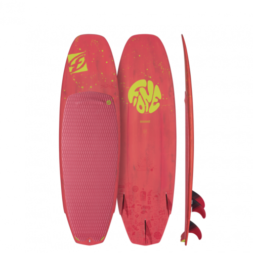 "F-One 2019 -  Surf Slice Carbon Serie Coral 5'3X18.3"" c/pinnette"