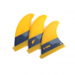 F-One 2020 - Flow XS Thurster Surf Fins Set da 3 Giallo