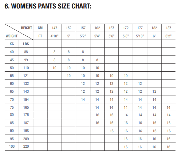 pant_and_short_women_size_zhik_chart